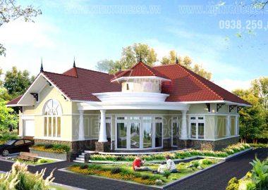 Biệt thự một tầng đẹp mang đậm nét châu âu ở Gia Nghĩa - Đaknông
