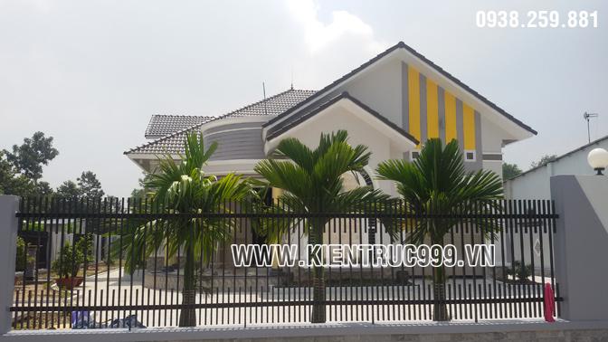 Hình ảnh thi công biêt thự vườn 1 tầng ở Long Thành - Đồng Nai.