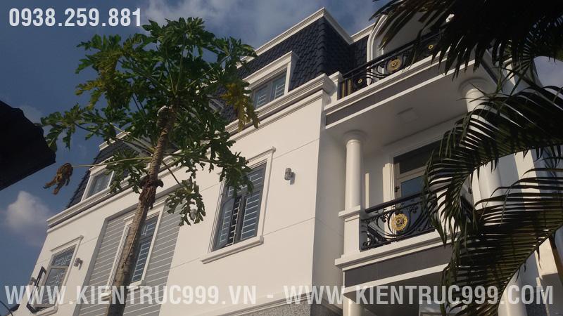 Hình ảnh thi công nhà phố 2 mặt tiền phong cách tân cổ điển của anh Từ - Q12 - TPHCM.
