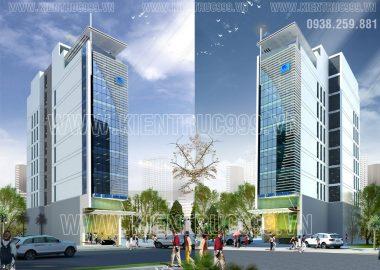 Thiết kế nhà văn phòng 9 tầng đường Nguyễn Tất Thành-quận 4-TP.HCM