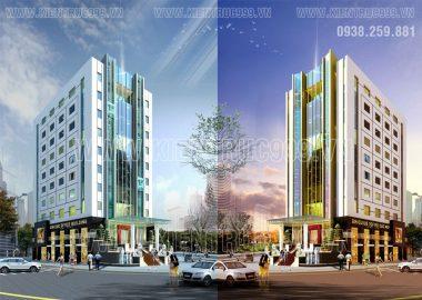 Thiết kế văn phòng Kim Cúc cao 10 tầng ở TP Quy Nhơn-Bình Định