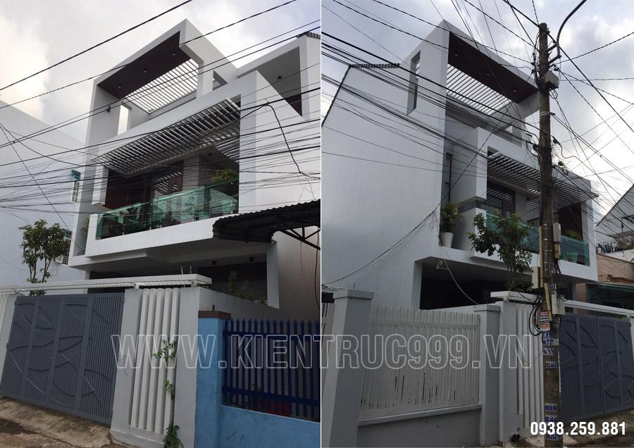 Thi công nhà phố 3 tầng anh Đông số 10 đường Nguyễn Hiền - Buôn Mê Thuột.