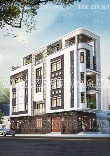 Tổng hợp các mẫu nhà xéo góc 5 tầng 2 mặt tiền phố hot nhất 2018